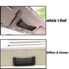 Car Phone Net Holder Convenient stick glove network Car Auto String Mesh Bag Storage Pouch For Cellphone Gadget Cigarette