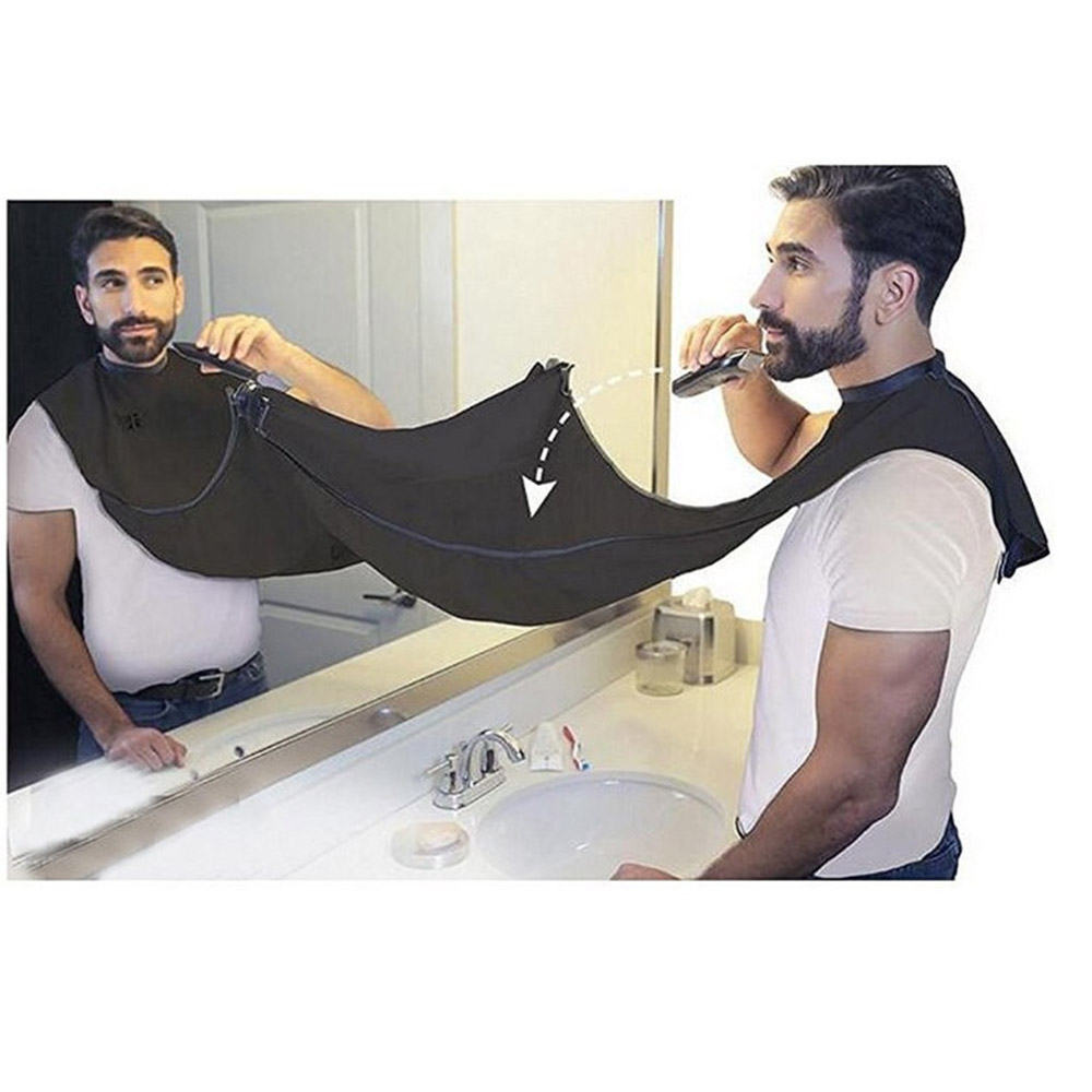 Men Bathroom Beard Shaving Apron Towel Keep Tiny Beard Cleaning Apron Beard Storage Cloth Waterproof Floral Cloth Household