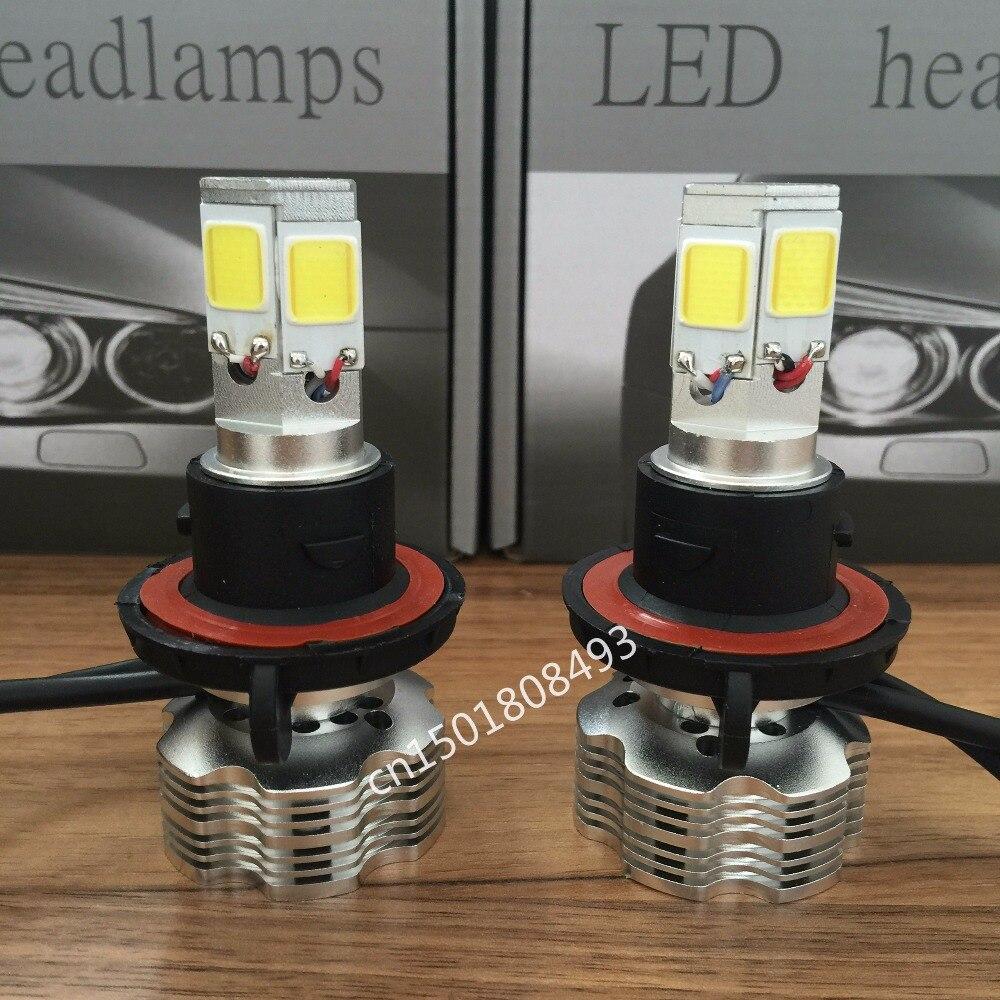ФОТО MOSTPLUS 120W 12000LM COB LED headlight Kit H13 9008 Hi/low Beams 6000K XENON White bulbs