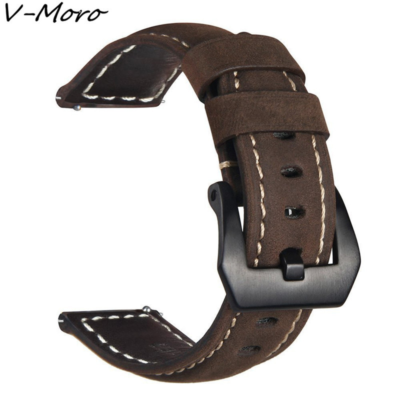 V-MORO 2018 New Gear Sport Band Gear S2 Classic SM-R732 SM-R735 Band Genuine Leather Bands For Samsung Gear Sport SM-R600 Straps kimisohand 2016 new fashion design genuine leather loop type watch band strap for samsung gear s2 classic sm r732 hot sale
