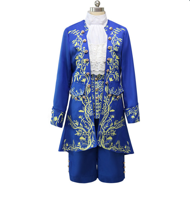 Cartoon Beauty and the Beast Cosplay Adult Costumes Prince Adam Cosplay Clothes Adam Men halloween Party Clothes Suits