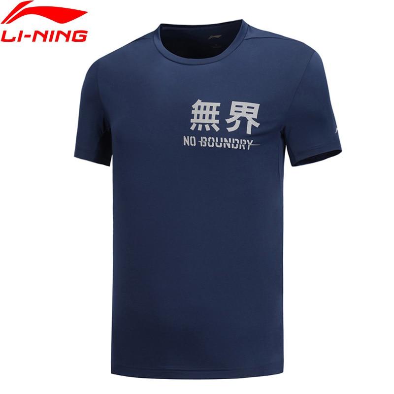 Li-Ning Men Training Series T-Shirt Breathable Regular 87% Polyester 13% Spandex LiNing Li Ning Sports Tee Tops ATSP041 MTS3035
