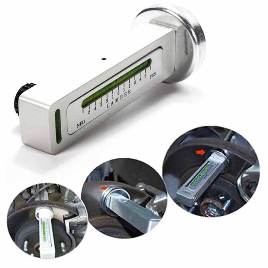 Car-styling Adjustable Magnetic Camber Castor Strut Wheel Alignment Gauge Tool for Universal 724 Levert Dropship