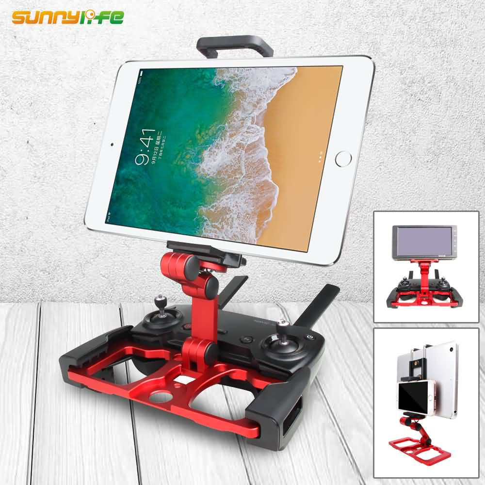 Sunnylife Remote Controller Smartphone Tablet Clip Holder for DJI MAVIC PRO/ mavic 2/MAVIC AIR/ SPARK drone CrystalSky Monitor цена 2017