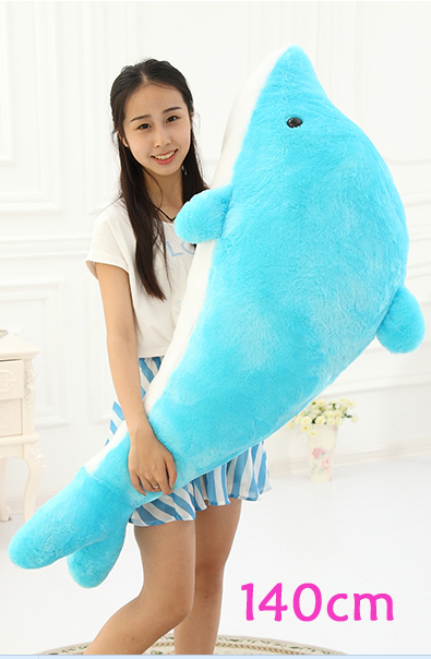 Huge Lovely Plush Dolphin Toy Lovely Blue Big Dolphin Doll Gift