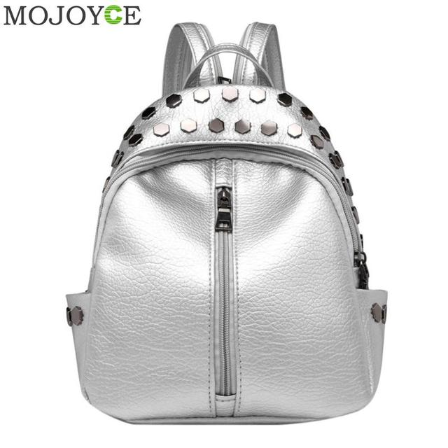 Small Women Backpacks Rivet Zipper PU Leather Student Backpack Preppy  Fashion Girls Women s Backpack Kids School Shoulder Bag f9e0806fd4