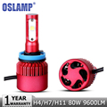 Oslamp 2 unids H4/H7/H11 80 W SMD LED Bombillas de Los Faros Del Coche 9600LM 6500 K Virutas DEL CREE Faros Led Auto Faros Led Luz de Niebla 12 v 24 v