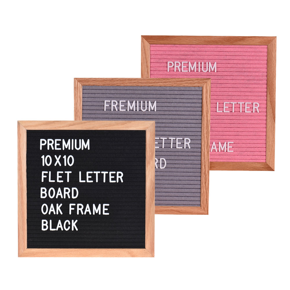 Flip Chart 10 Felt Letter Board Sign Message Home Office Decor Wall Board Oak Frame 290 Changeable White Symbols Numbers Characters 10 Office & School Supplies