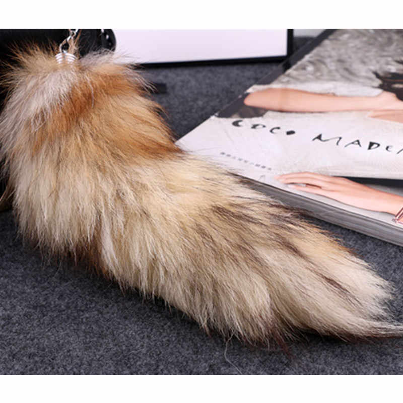 0f5bb127b13a Wolf Tail Fur Keychain New Fashion Fox Tail Keychain Fox Fur Hot Large  Tassel Bag Tag