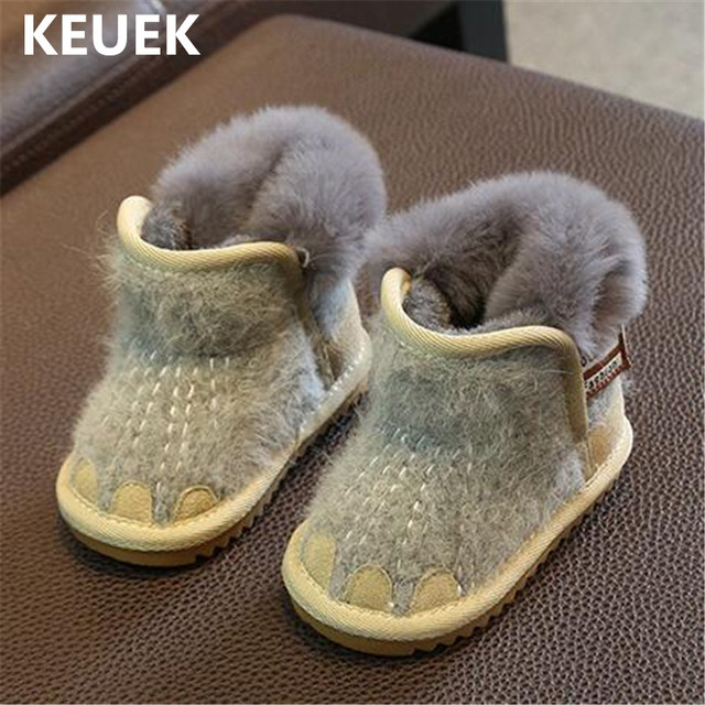 New Children Ankle Boots Boys Girls Baby Snow Boots Kids Shoes Toddler Warm Baby  Shoes Winter ecfc74c419a0
