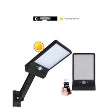remote control rotate bracket solar street light Upgraded 48 leds Solar Light Color Adjustable With Controller Three Modes Water