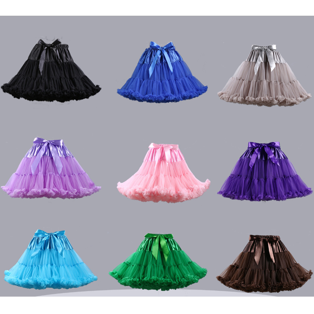 2017 new style stock petticoat 40cm high waisted tulle