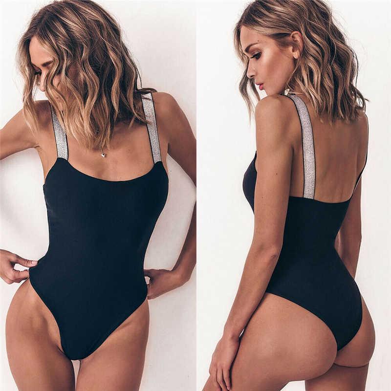 2019 الصيف المرأة مبطن دفع ما يصل الصدرية الفضة ضمادة مجموعة البكيني ملابس السباحة ملابس بحر ثوب السباحة