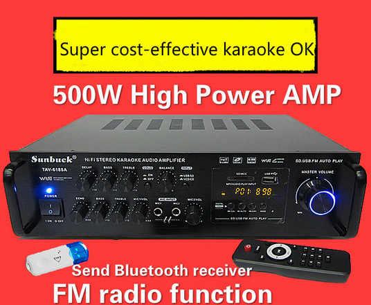 TVA-6188A/TVA-6188BT 2,0 канал 500 Вт 220/12 В с Bluetooth HIFI караоке домашний кинотеатр стерео аудио усилитель