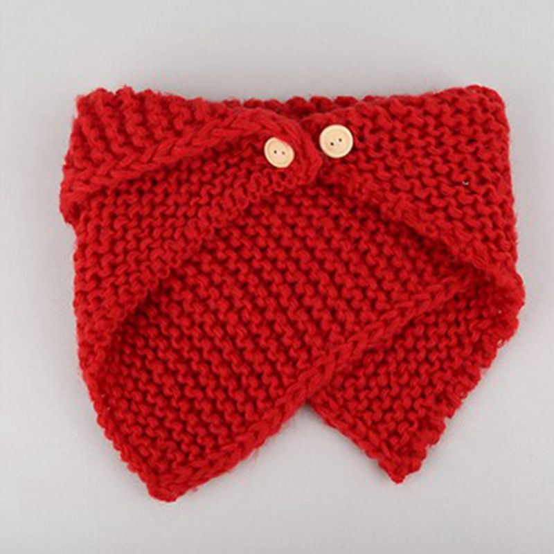 Baby Burp Cloths Winter Scarf for Children Fashion Wild Knitting Buttons Warm Collar Scarves Boy Bibs Baby Girls Bibs Unisex