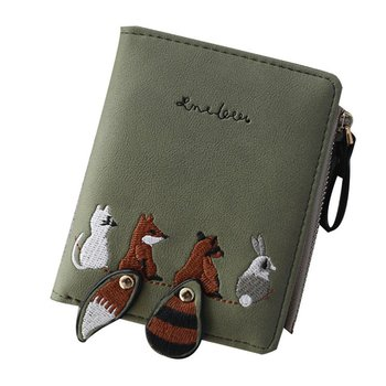High Quality Animals Short Leather Mini Zipper Purse