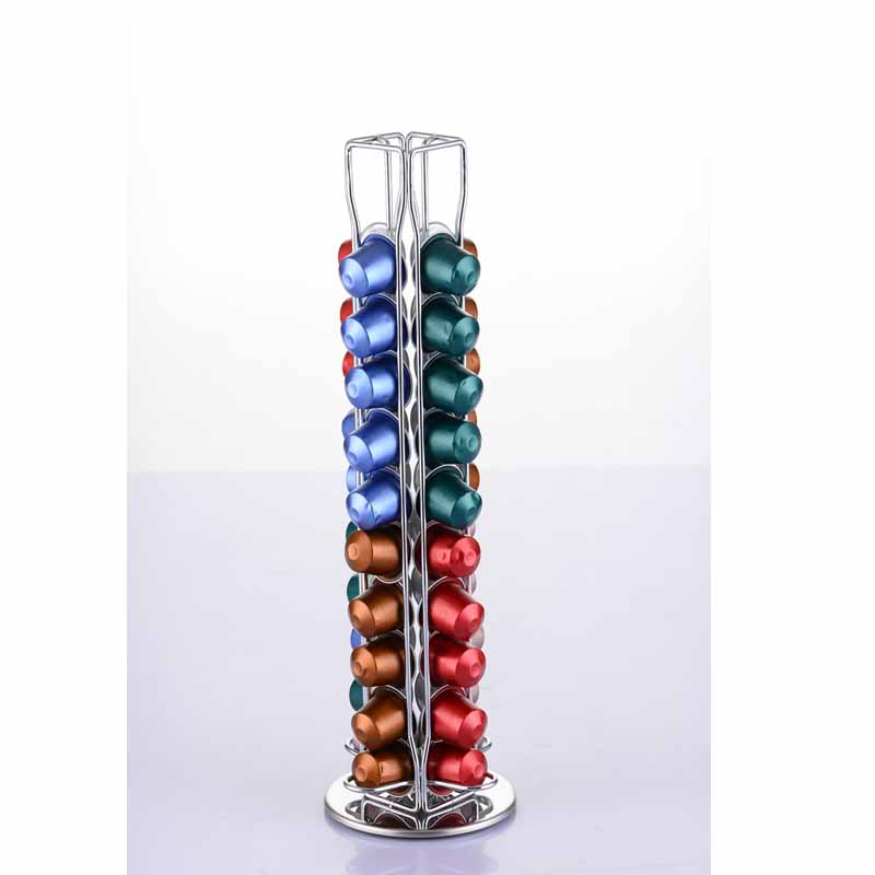buy 40 coffee pod holder dispenser coffee capsules dispensing tower stand fits. Black Bedroom Furniture Sets. Home Design Ideas