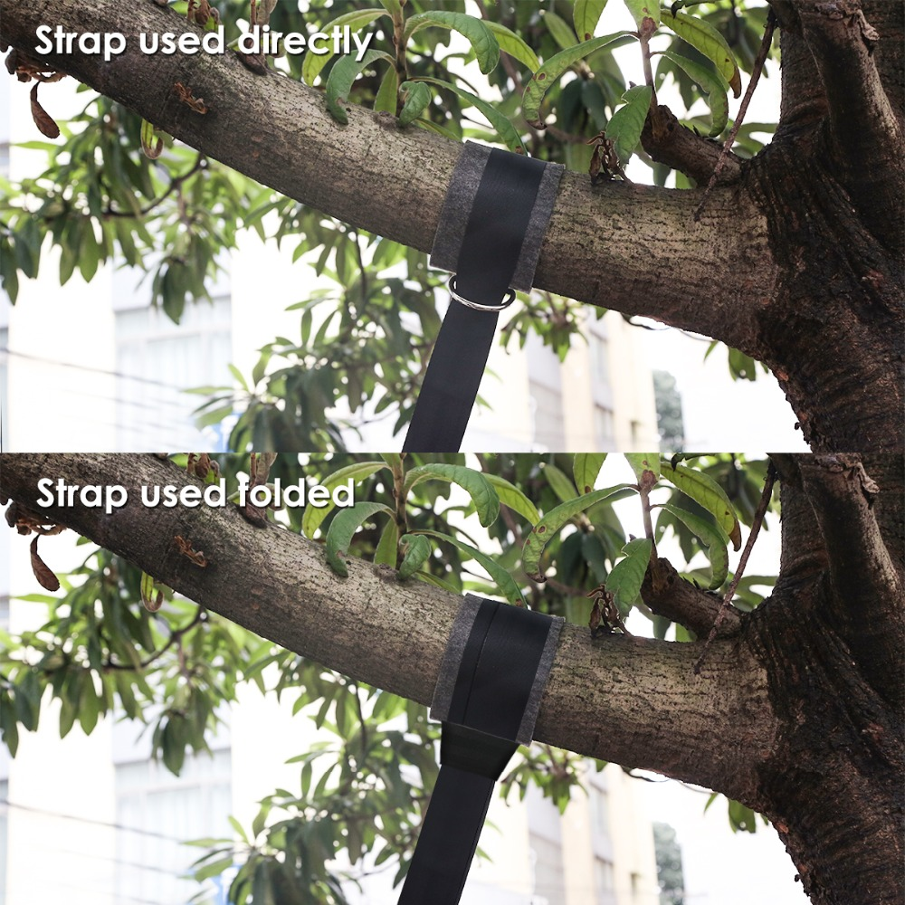 Tree Swing Hanging Straps Safety Lock Carabiner 2pcs Chair Stainless Steel 44cm