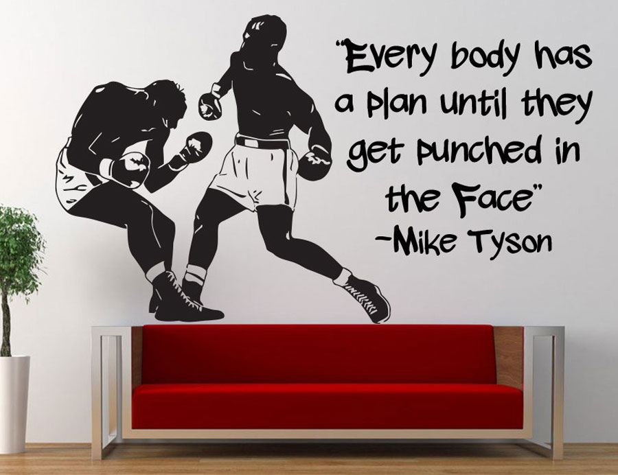 Boxing Quote Wall Decal Boxer Sports Vinyl Sticker Bedroom