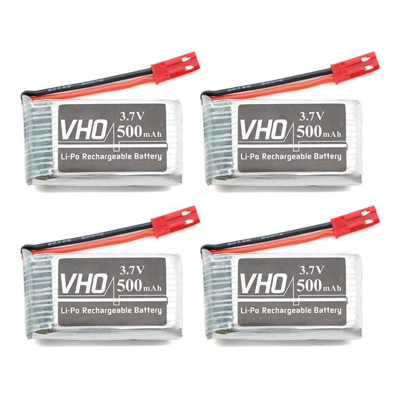 VHO 4 PZ 550 mah 3.7 V batteria Lipo Per JJRC H37 Eachine E50 SYMA X5HC X5HW GoolRC T37 Wltoys V977 V930 V988 RC Drone parti