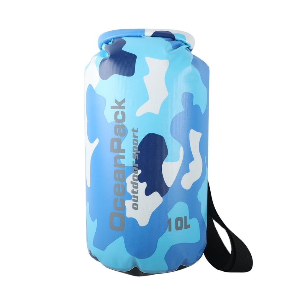 2/10/15/20L Camouflage Waterproof Bag Dry Bag Outdoor Swimming Storage Bag Man Rafting Sack Kayaking Drifting River Trekking Bag