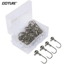 Goture 20pcs-50pcs Lead Jig Head Fishing Hooks 1g – 20g Hooks For Soft Fishing Lure Jig Head Fishhooks With Hard Box