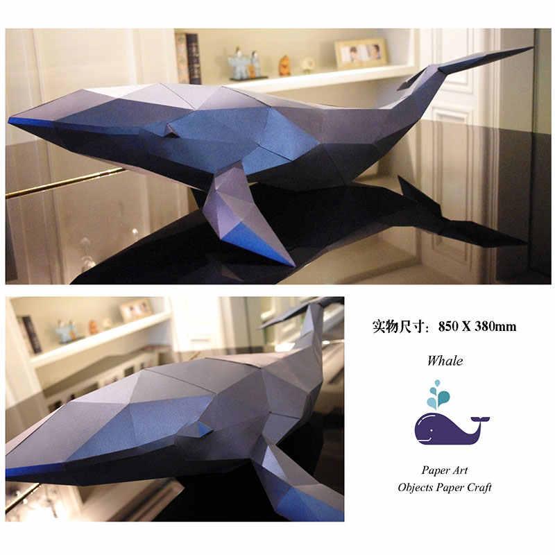 2018 New 3D Paper Model Animal DIY Paper Deer Whale Giraffe