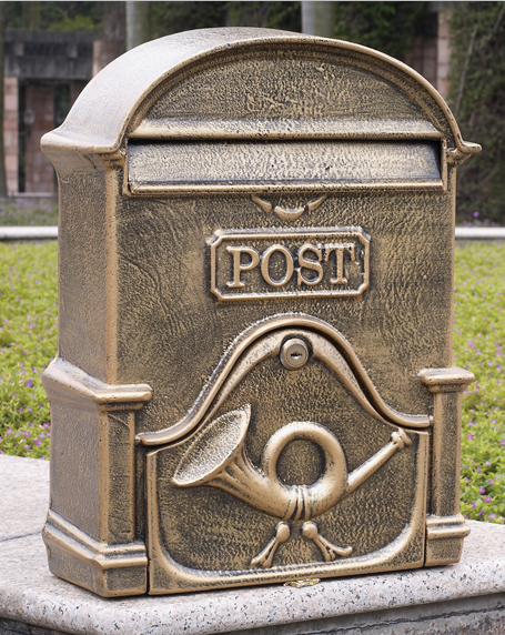 Garden decor / Luxury Villa mailbox / Aluminium alloy mail box / Newspaper box ...