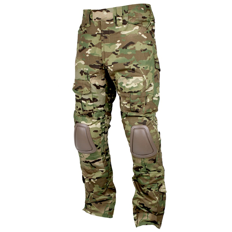 CQC Tactical Pants Cargo Men Military Hunting Airsoft Paintball Camouflage Gen2 Multicam Army BDU Combat Pants With Knee Pads