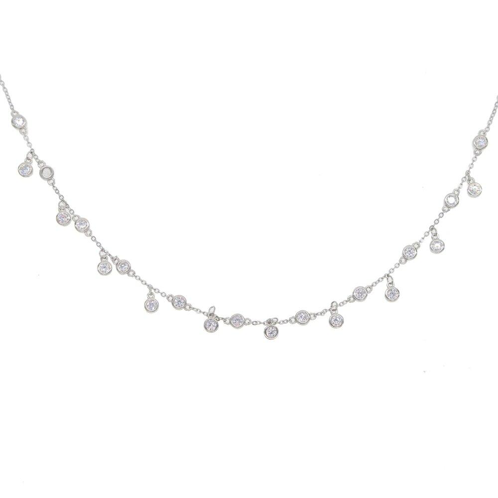 Купить женское ожерелье из серебра 100% пробы 32 + 8 см