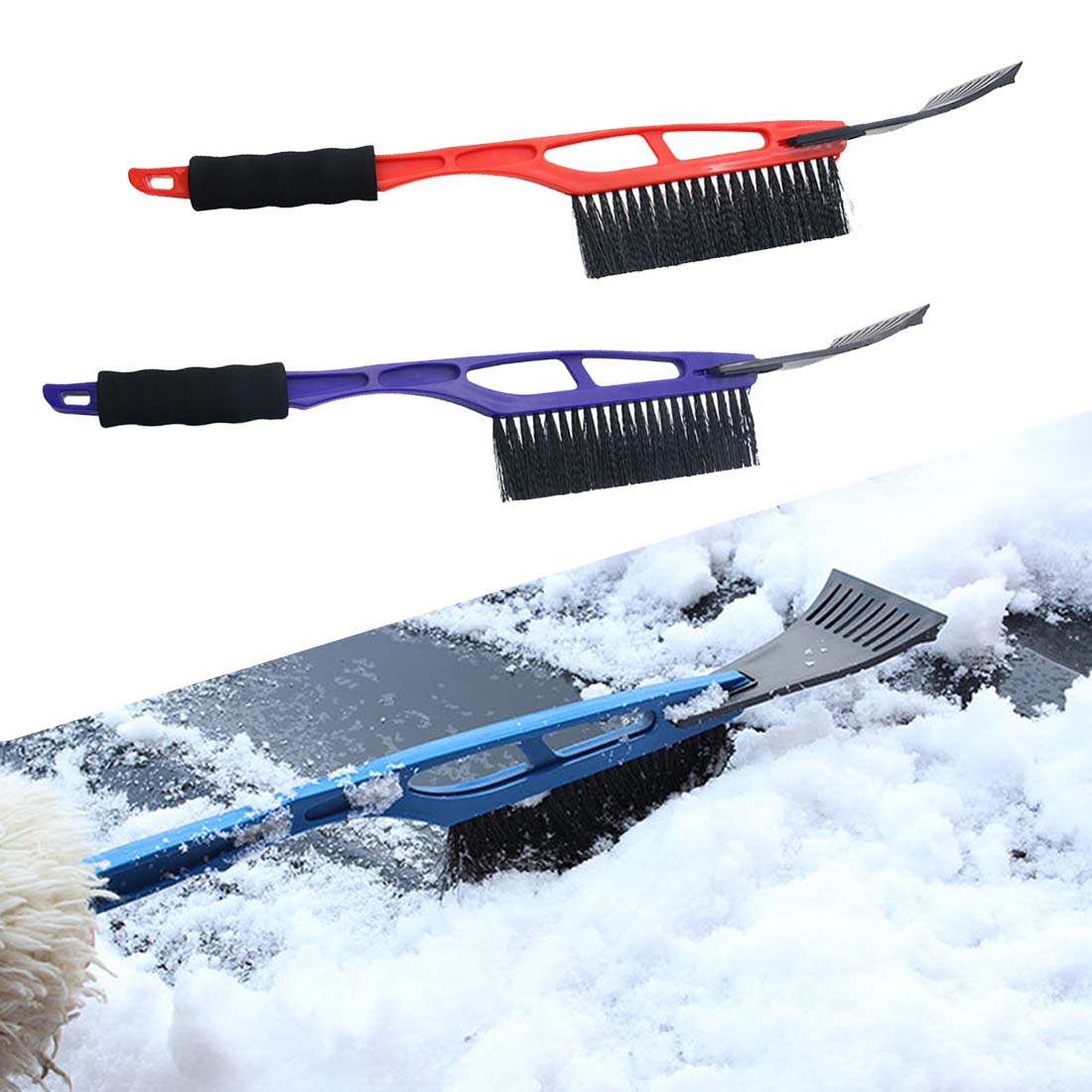 Dongzhen 1X 2 in 1 Auto Snow Brush Scraper Shovel Ice Scrapers Vehicle Brushes Car Cleaning Tools Winter Snowbrush Car-styling