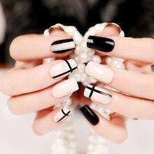 Geometric Style False Nails 24 Pcs Set