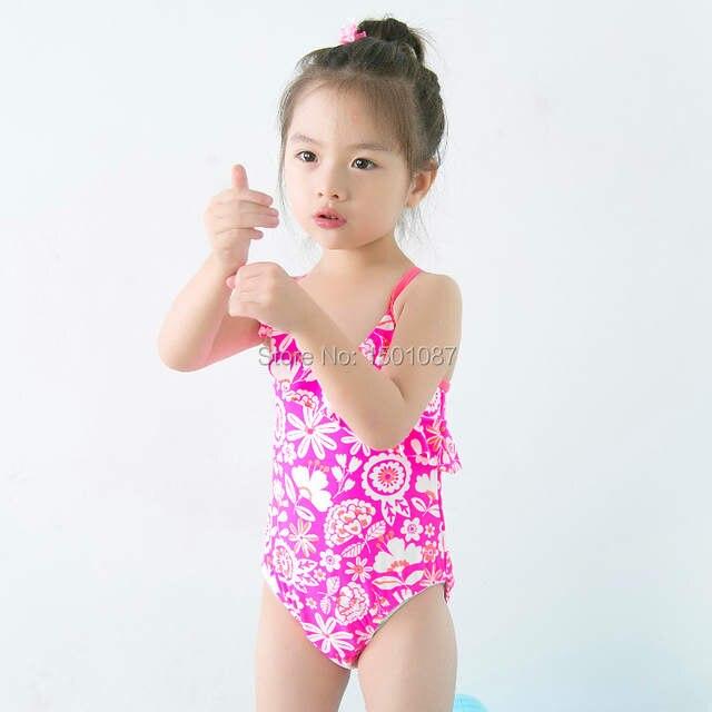 52597e8d9e121 Online Shop Lovely Pink Baby Kids Swimsuit Quality Girls Swimwear Teenagers  One-pieces Flowers Design Infant Bath Suit Children Beachwear | Aliexpress  ...