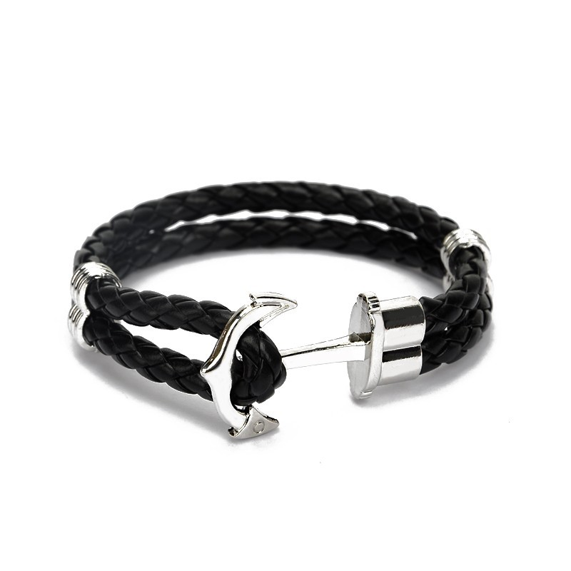 silver-anchor-with-black-braided-leather-bracelet