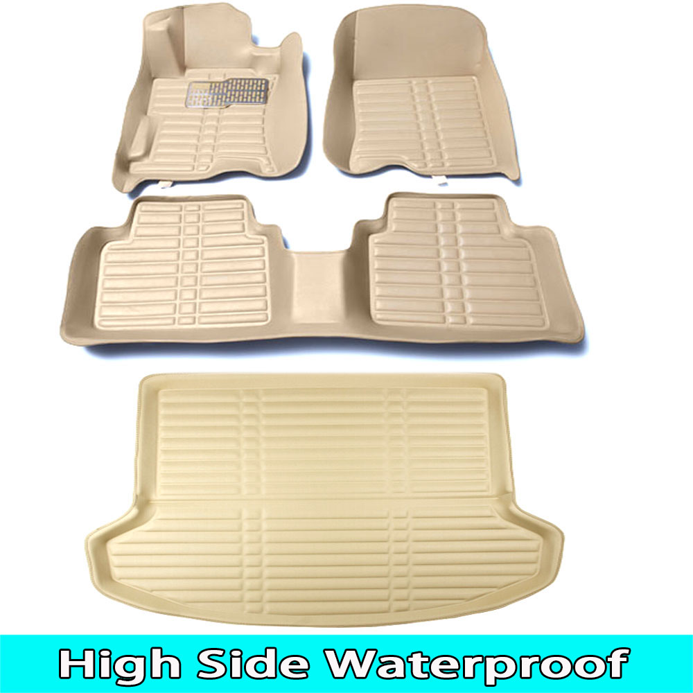 SUNNY FOX Car floor mats Case for Ford Edge Kuga Fusion Mondeo Ecosport waterproof car-styling leather Anti-slip carpet linerSUNNY FOX Car floor mats Case for Ford Edge Kuga Fusion Mondeo Ecosport waterproof car-styling leather Anti-slip carpet liner