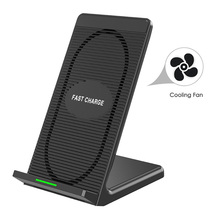 DCAE 10W Fast Wireless Charger Quick Wireless Charging Stand Cooling Fan for iPhone X XS Max 8 Plus Samsung Galaxy S9 S8 Note 9