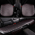 Universal 3Pcs Car Seat Covers Cushions leather Car-covers Pad Car Interior Accessories Auto Mat Beige Black Auti-slip