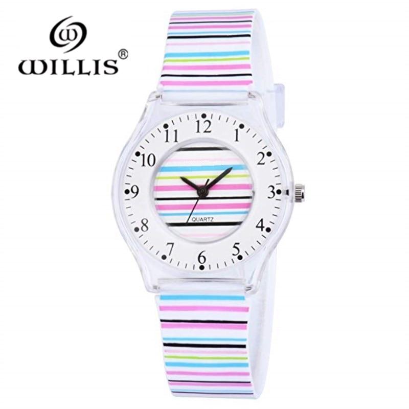 WILLIS márka klasszikus kvarcóra divat női szabadidőóra vízálló ultra-vékony szilikon szíj karóra lány óra órák