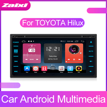 ZaiXi Android Car Multimedia player 2 Din WIFI GPS Navigation Autoradio For Toyota Hilux 2015~2019 Radio FM Maps BT