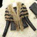 Nova Moda Outono & Inverno Mulheres do Sexo Feminino de Médio Longo De Pele De Raposa de Luxo Peles Mex Peludo da Pele do Falso falso LJ738