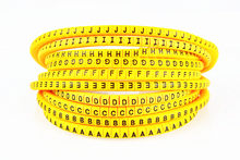 500pcs EC-0 EC-1 EC-2 EC-3 1.5mm2 QRSTUVWXYZ yellow English Letter Flexible Print Sleeve Tube Label Network Wire Cable Marker(China)