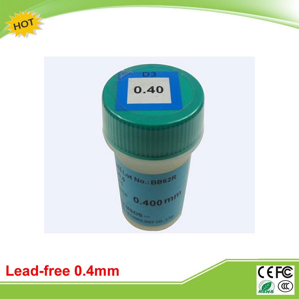 Lead free 0.4mm BGA solder balls 250K for bga repair reballing kit lead free bga solder balls 250k 0 35mm for bga repair bga reballing kit bga solder ball
