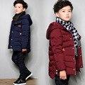 Retail 2016 niños niños chaquetas niños Otoño prendas de vestir exteriores abrigo con capucha de calidad superior grueso wadded chaqueta/parkas ropa infantil niños