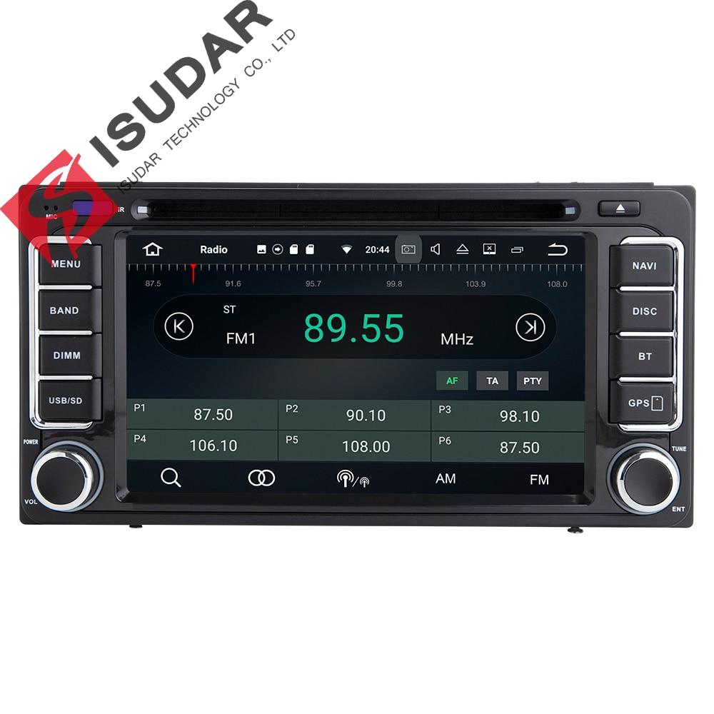 Isudar Car Multimedia player GPS Android 7.1.1 2 Din Autoradio For Toyota/Corolla/Subaru/Forester/Impreza Microphone Radio fm