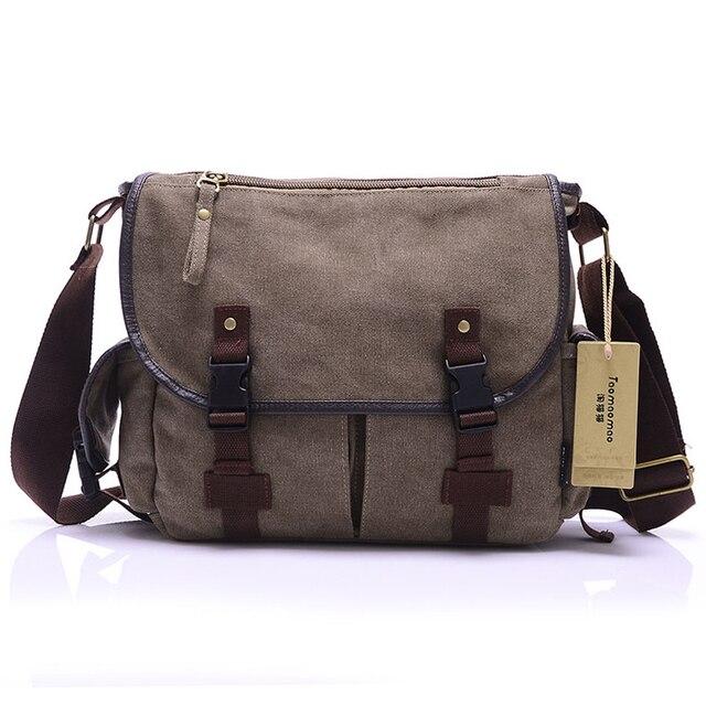 High Quality Canvas Bag Men's solid cover zipper casual shoulder school bags men crossbody bag Men Messenger Bags