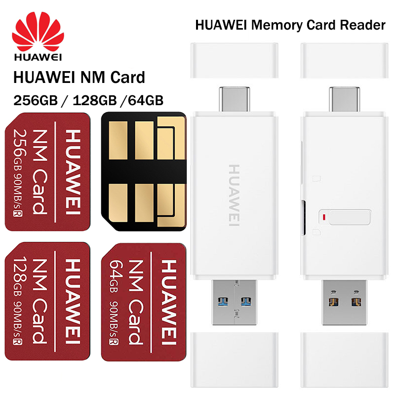 90MB/s NM Card Nano 64GB/128GB/256GB Apply to Huawei P30 Pro Mate20 Pro Mate20 X With USB3.1 Gen 1(China)