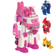 17*11cm Deformation Armor Super wings toy set Rescue Robot Action&Toy Figures Super Wing Transformation Robot Fire Engines Toys hot robot super wings toy deformation donnie toolbox airplane robot action figures super wing transformation tool box toy gift