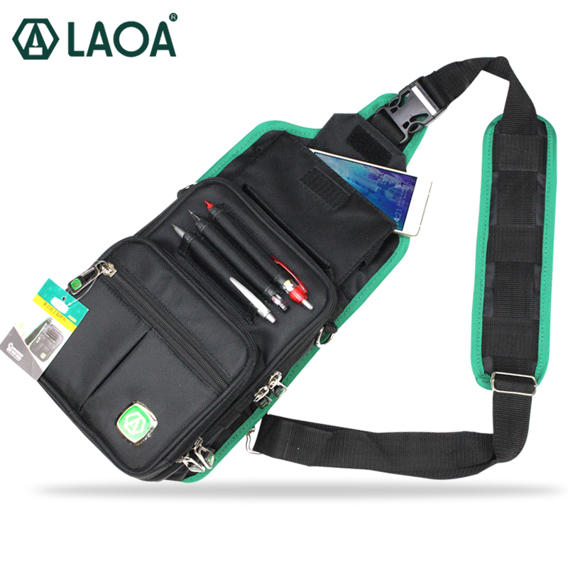 New LAOA Multifunction Messenger Bag Cross Body Electrician Hardware Mechanic's Canvas Tool Bags For Store Tools