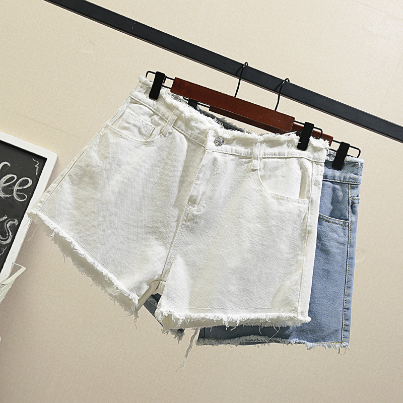 Fat mm denim shorts for garment tide will female fertilizer increased loose new supersize jin in the summer