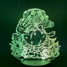 3d Led Night Light Anime One Piece Enel AMARU Figure Acrylic Crafts Nightlight Gift for Child Boy Bedroom Decor Table Lamp 3d цена в Москве и Питере